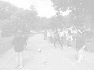 Youth ENVISION Teens Playing Four Square BANNER